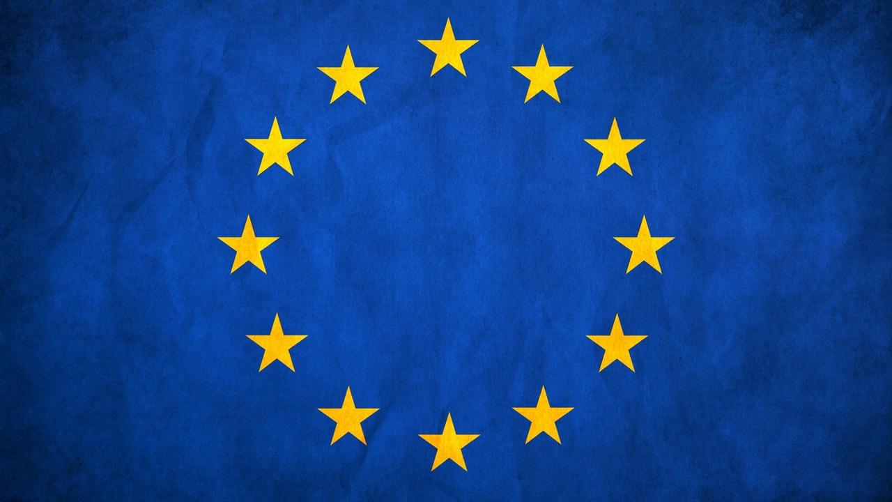 Wallpaper european union flag stars europe texture hd picture 1280x720