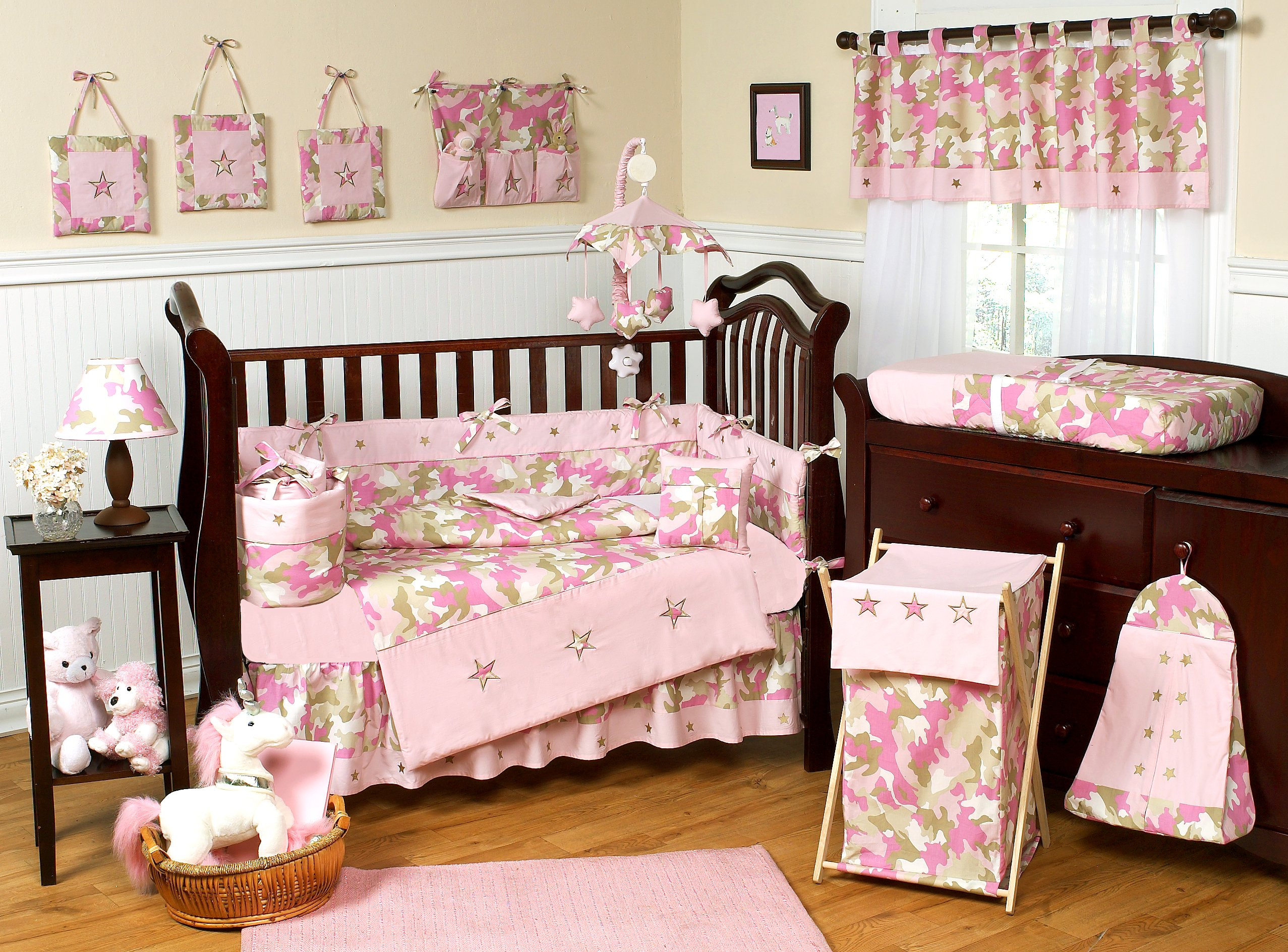Camouflage Pink Baby Bedding Camo Nursery Decor and Crib Sets 2554x1888