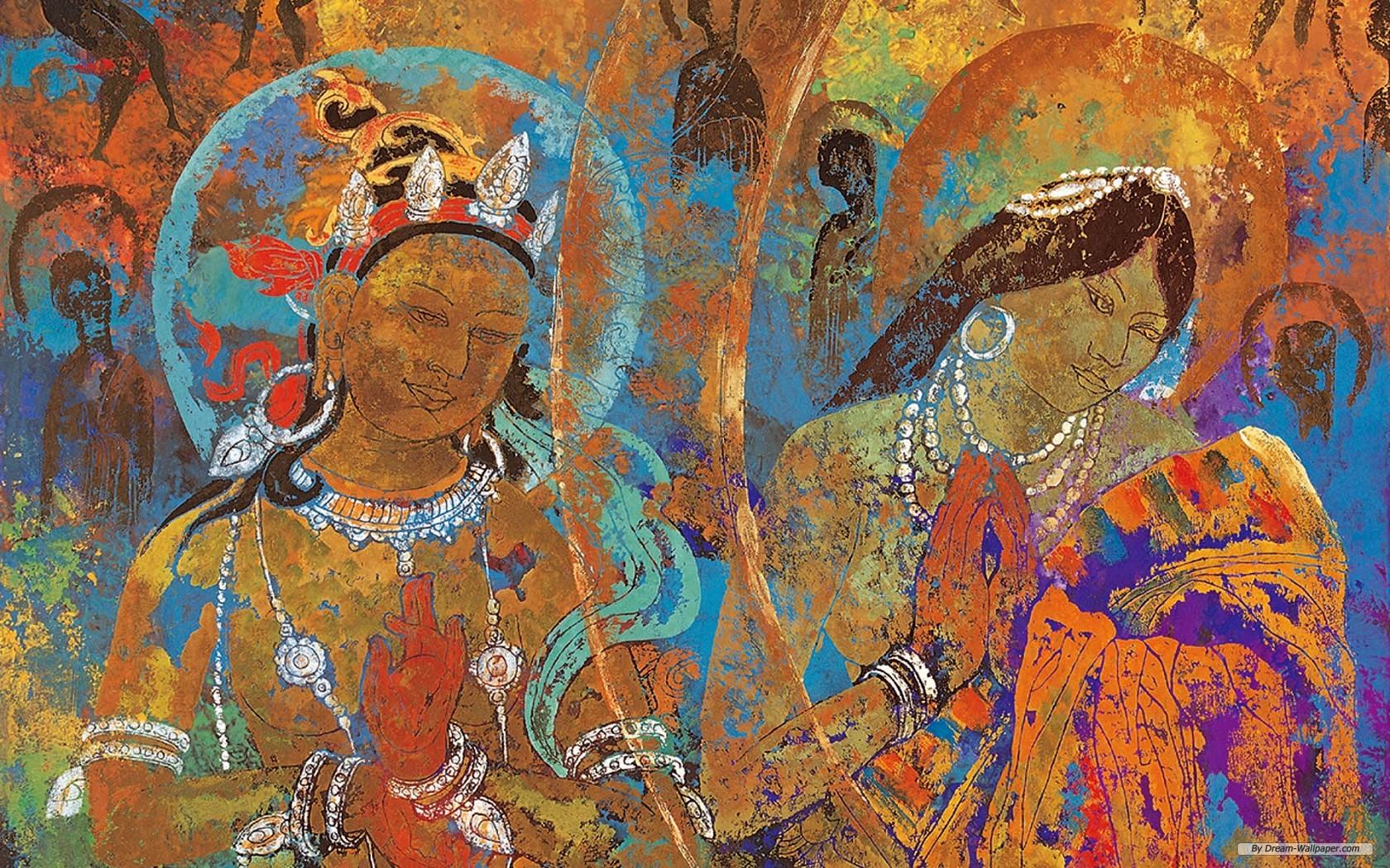 wallpaper   Tibetan Thangka Painting 2 wallpaper   1680x1050 wallpaper 1680x1050