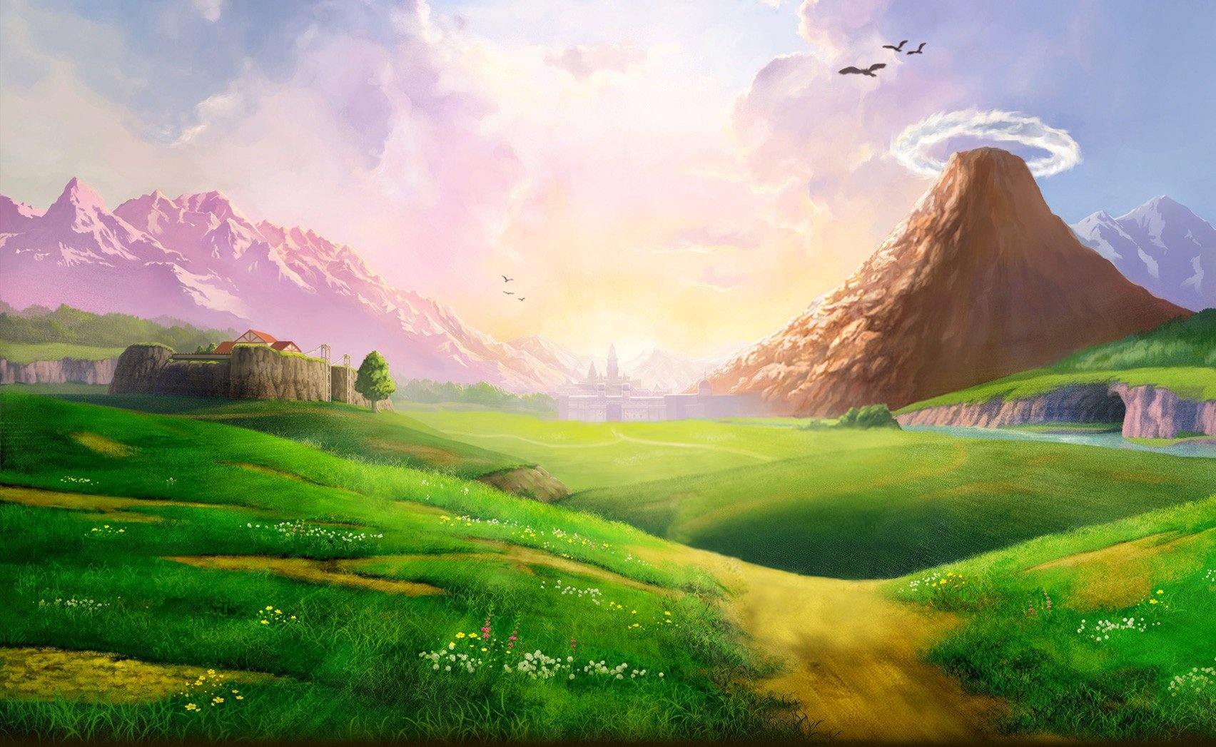 Anime Landscape HD Wallpapers DOWNLOAD Anime Landscape HD Wallpapers 1704x1047