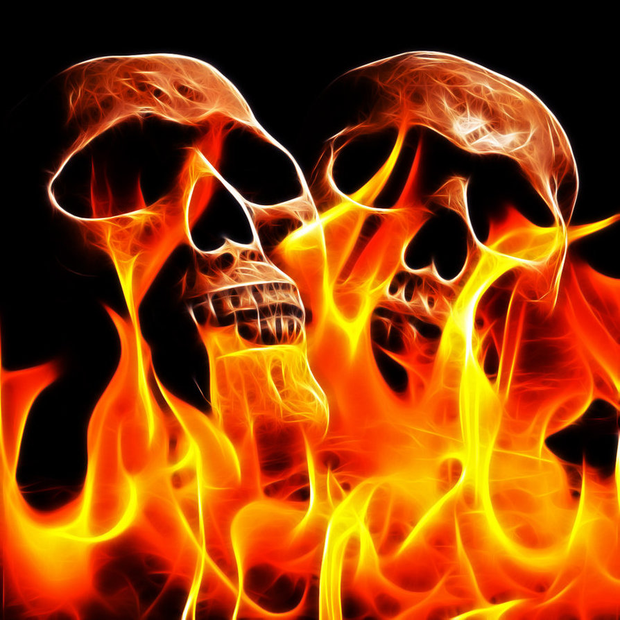Flaming Skull Wallpapers