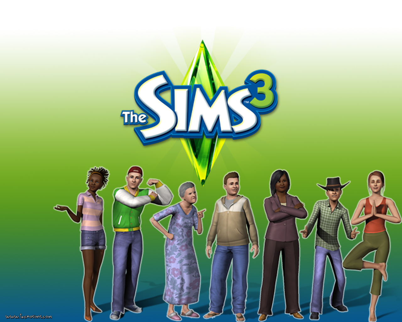 the sims 3 wallpaper 14 Top windows 7 themes 1280x1024