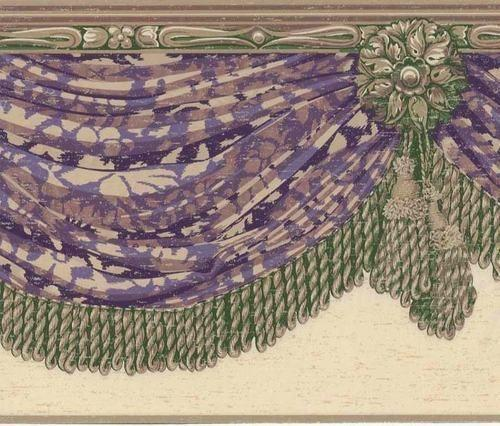 Damask Wallpaper Border eBay 500x426