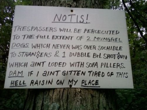 Redneck Funny Signs 2 Hd Wallpaper   Funnypictureorg 500x373