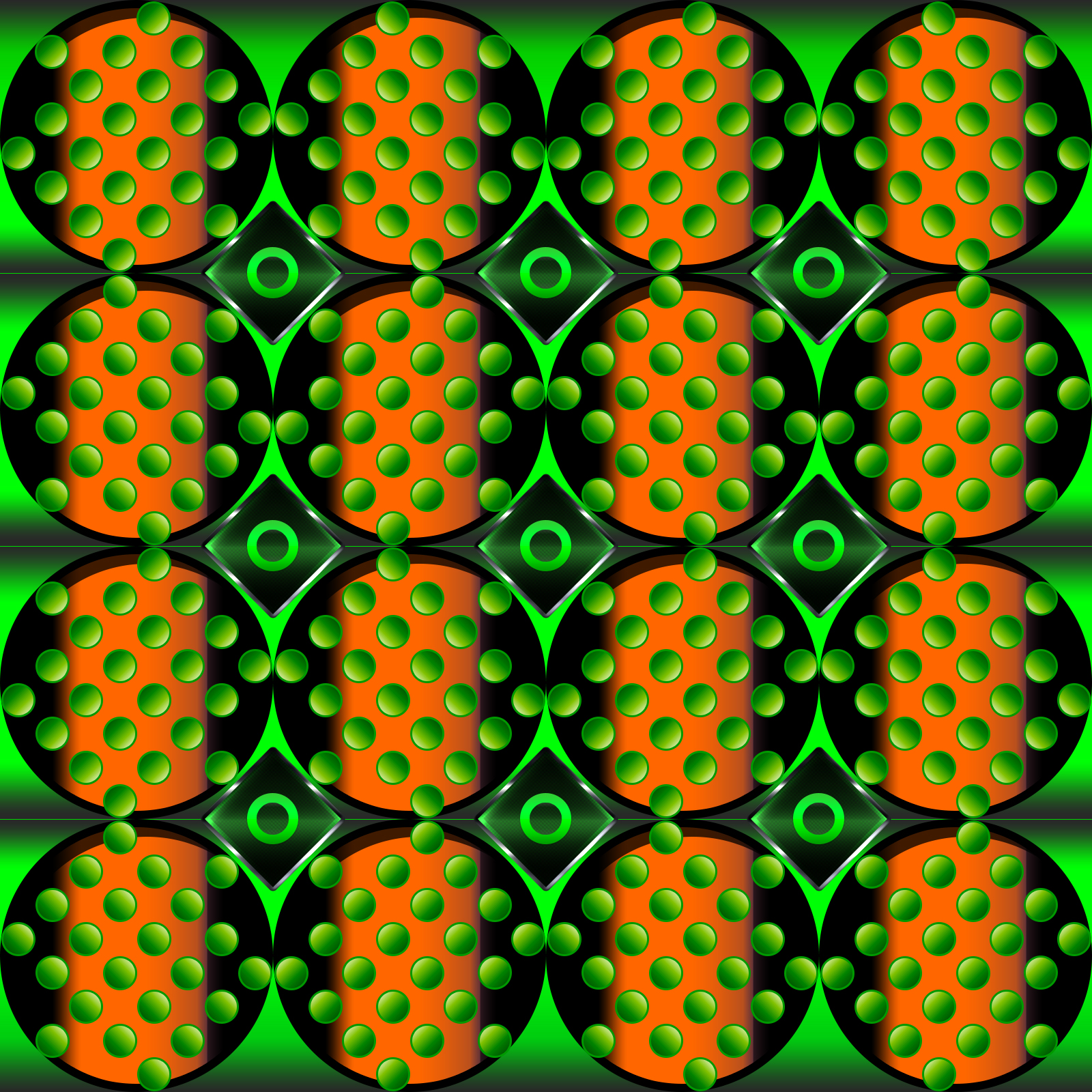 The Orange And The Green Pattern Wallpaper 1600x1600