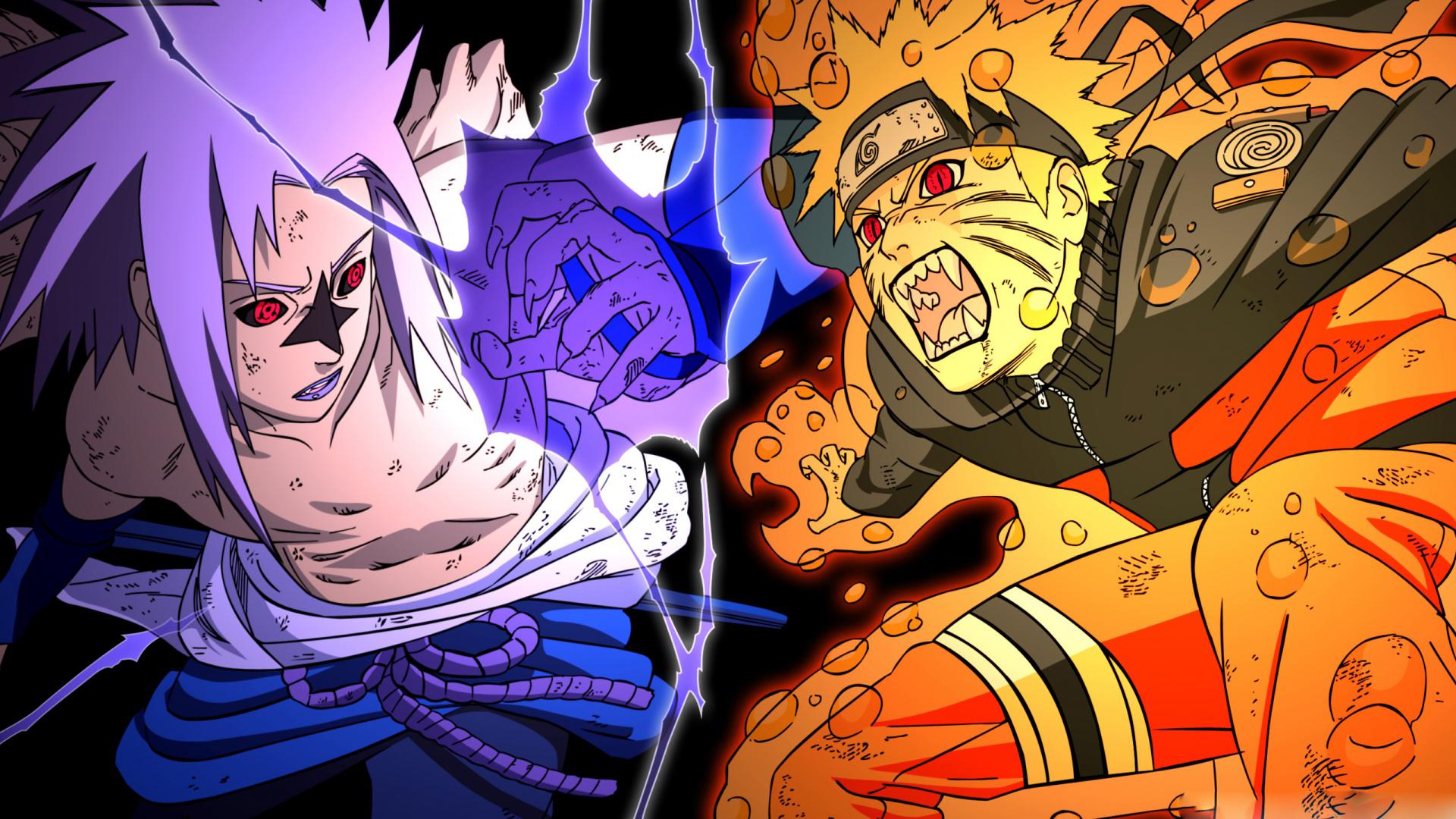 Naruto Kyubi Sasuke Versus Wallpaper #23997 Wallpaper ...