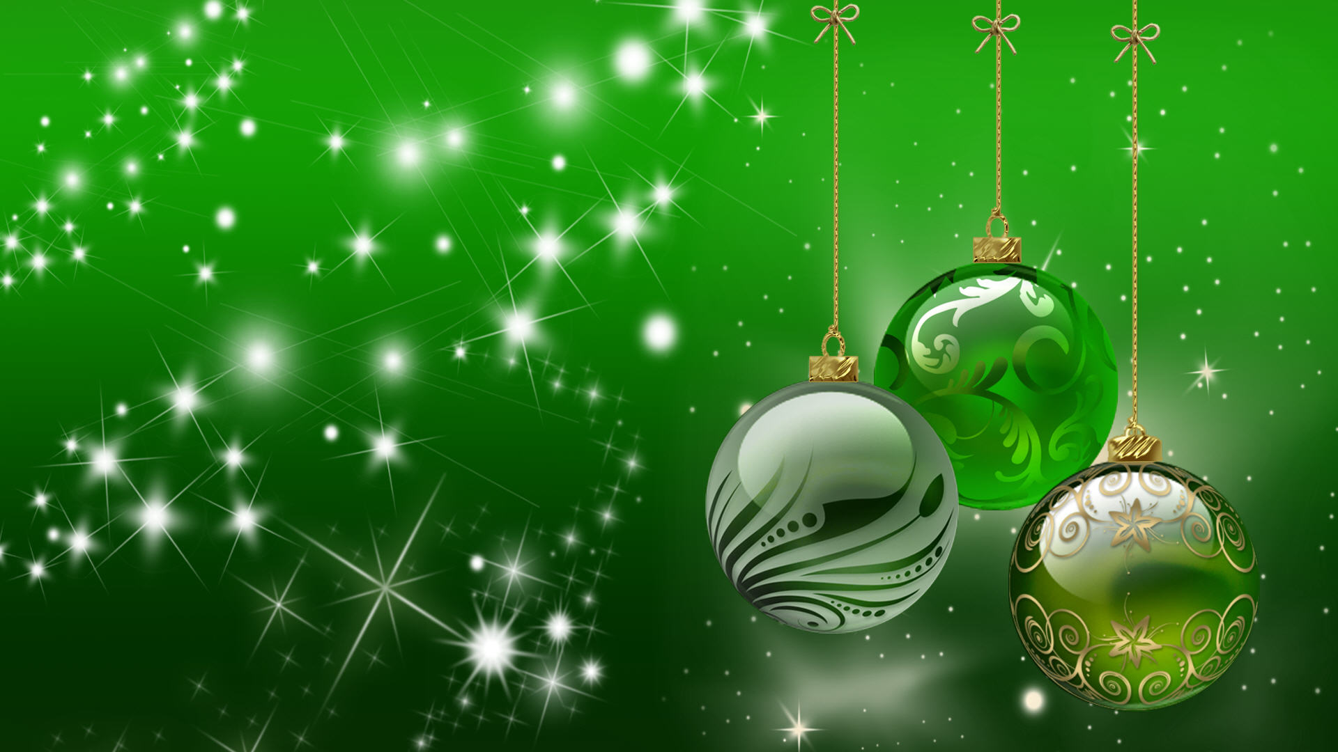 Holiday Image Download   Christmas Green Background Hd 1920x1080