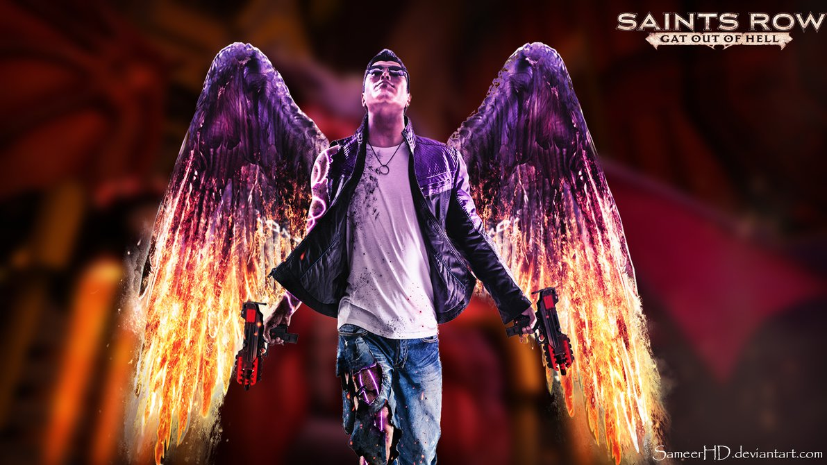Saints Row Gat Out Of Hell Johnny Gat Wallapaper by SameerHD 1191x670