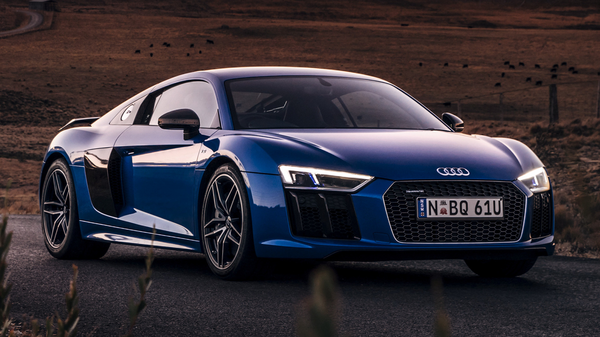 Audi R8 V10 plus 2016 AU Wallpapers and HD Images   Car 1920x1080