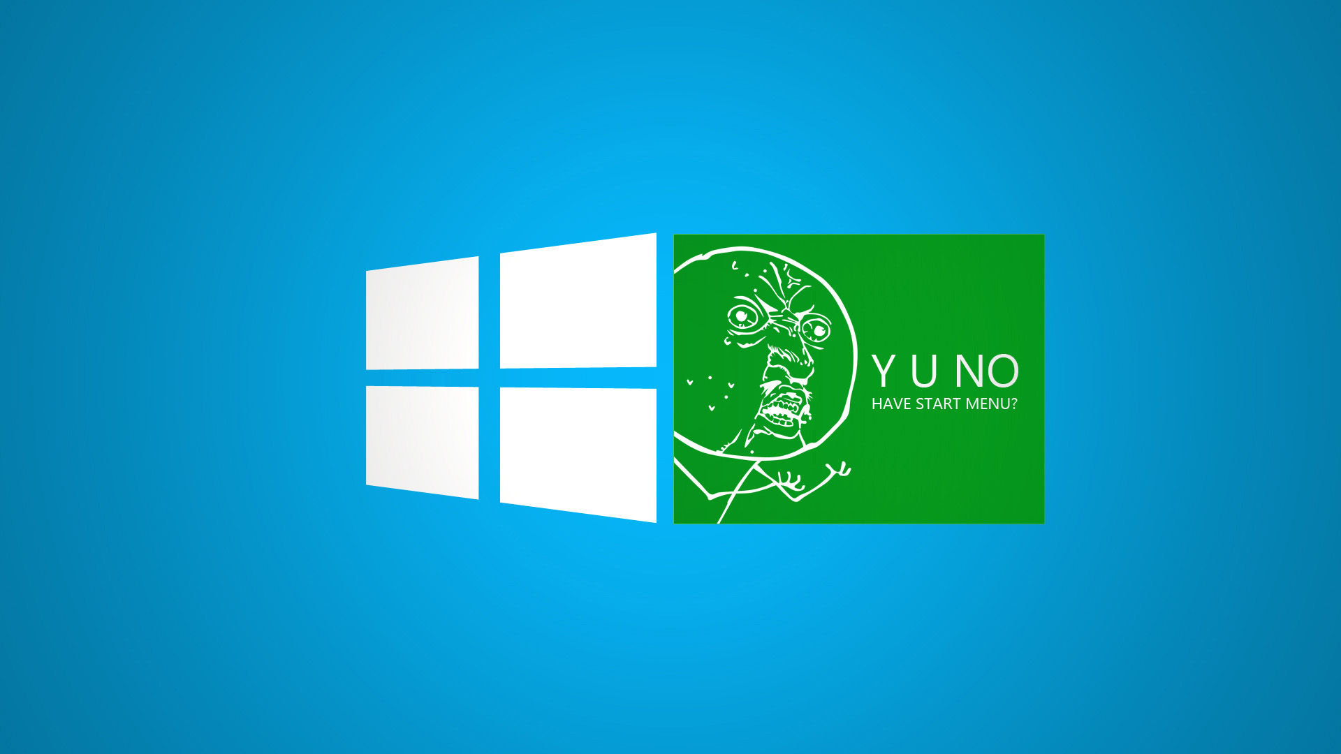 funny green windows 8 meme desktop wallpaper