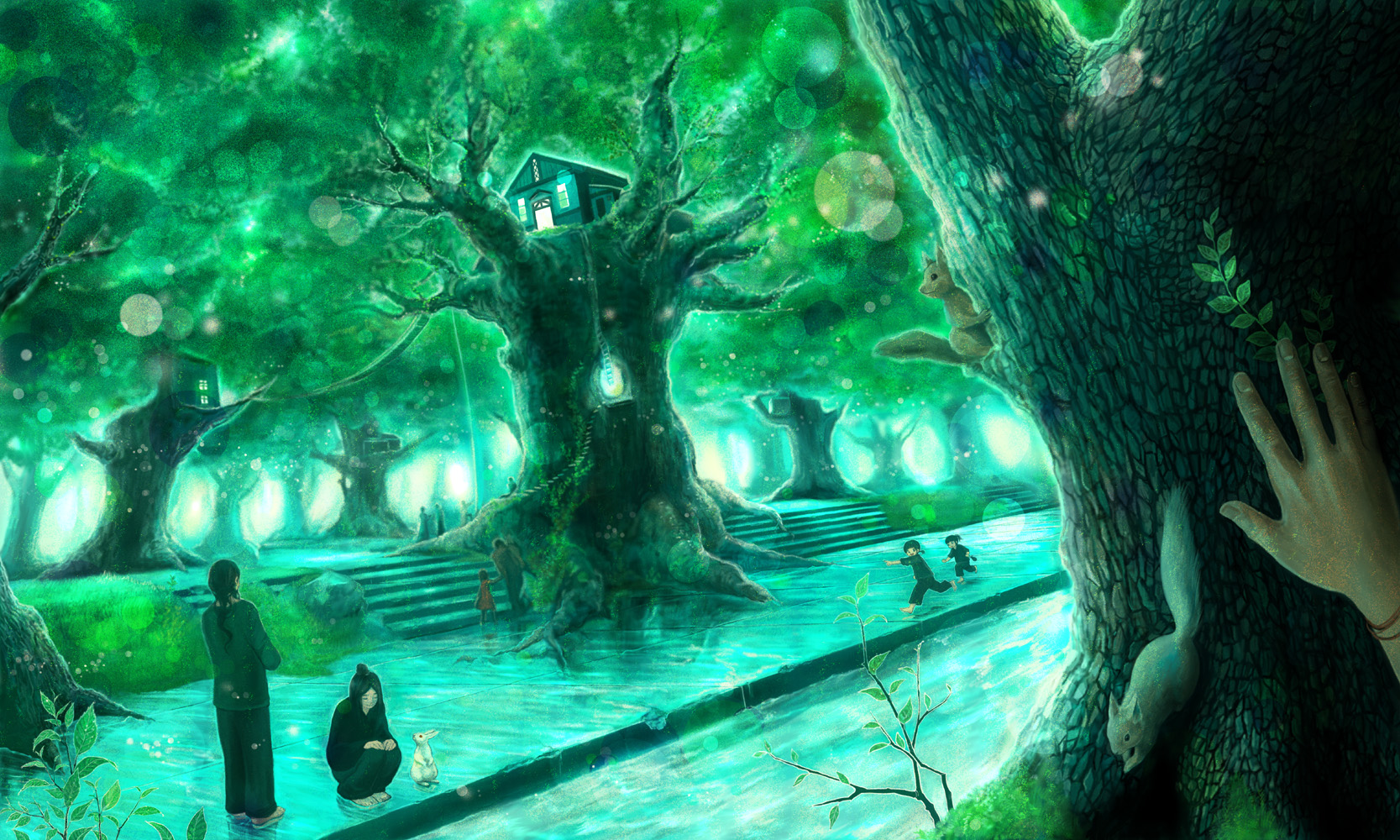 Anime Forest Wallpaper 1667x1000 Anime Forest 1667x1000