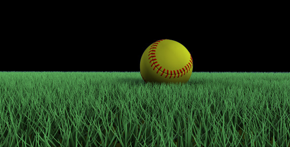 Motion Graphics   Softball Rolling on Grass VideoHive 590x300