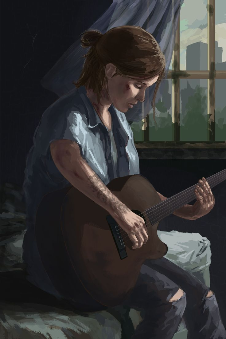 Ellie from the last of us part 2 An Molica on ArtStation at www 736x1103