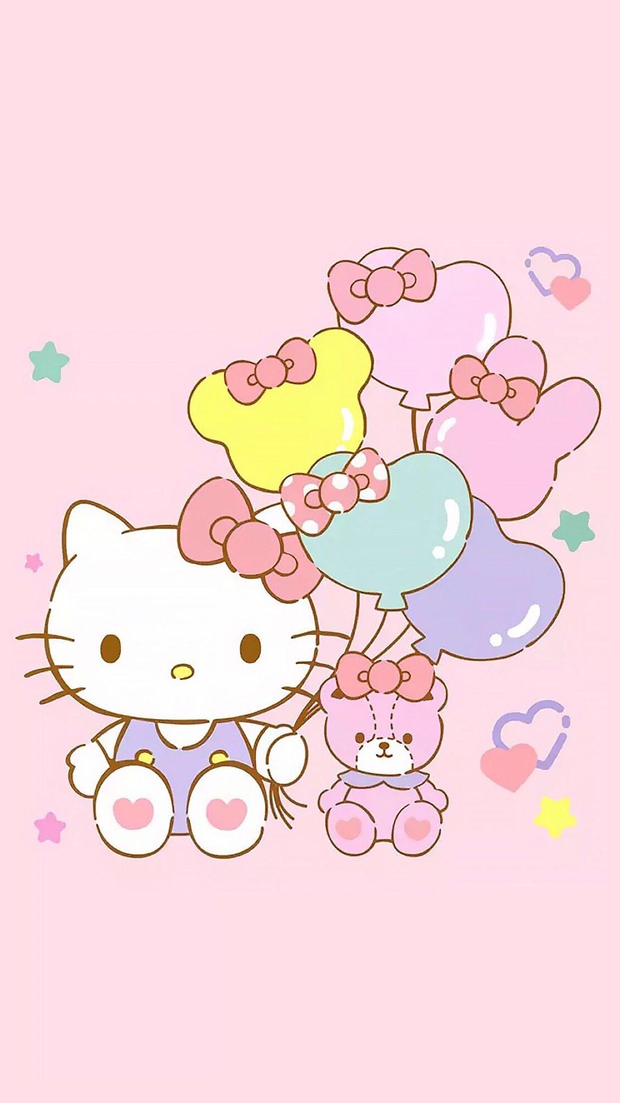 Hello kitty and friend Hello kitty backgrounds Hello kitty 1242x2208