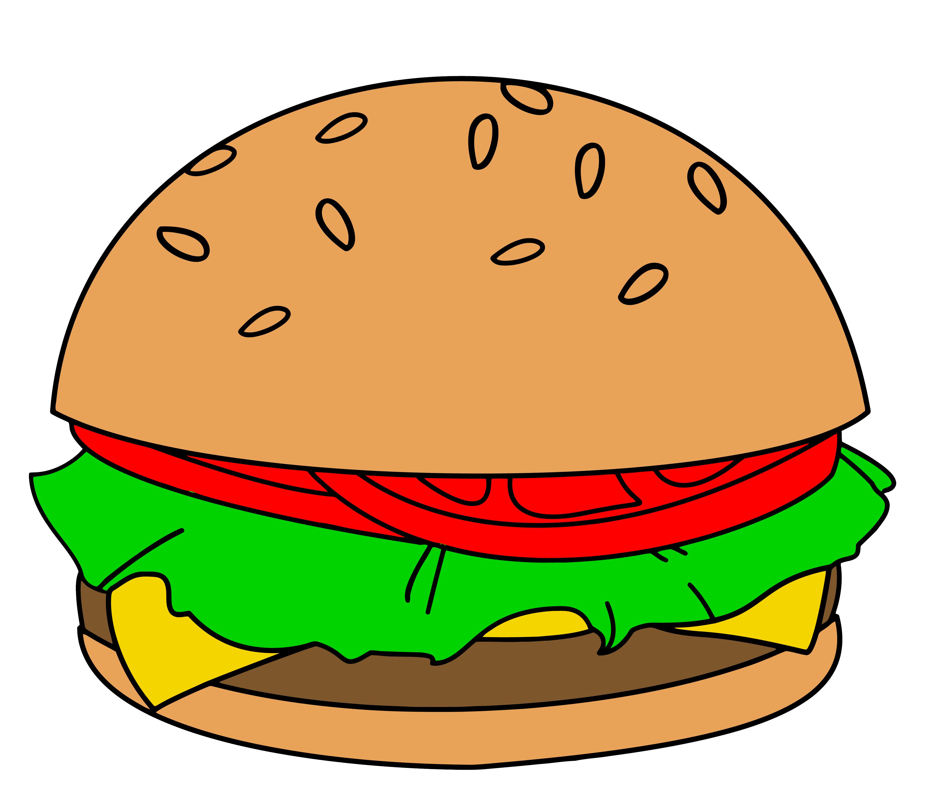 cartoon hamburger wallpaper - photo #8