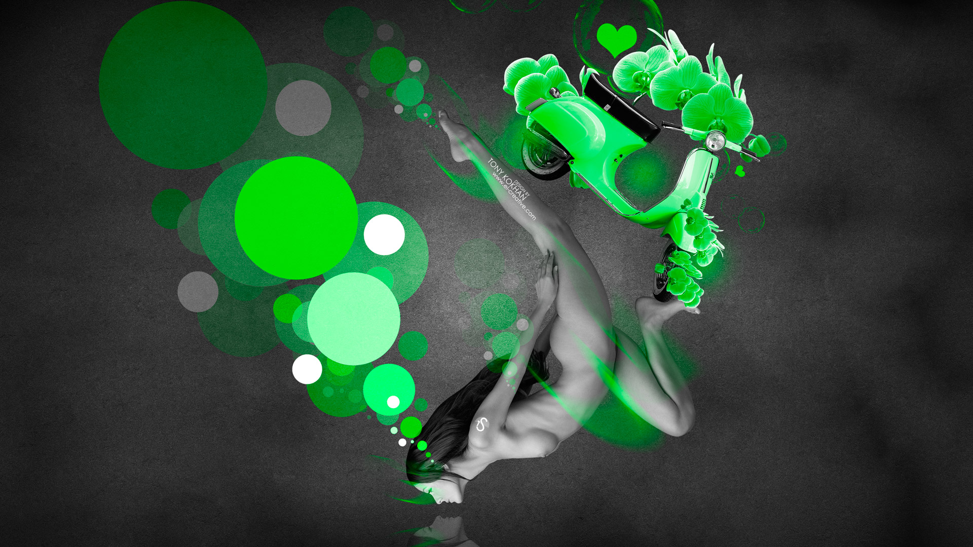smoke girl 2014 green neon hd wallpapers design by tony Car Pictures 1920x1080
