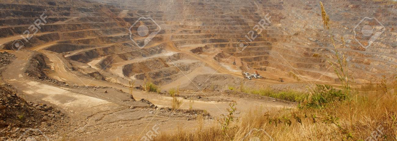 Zinc Mine Background Of Mining Industrial Landscape On The Open 1300x464