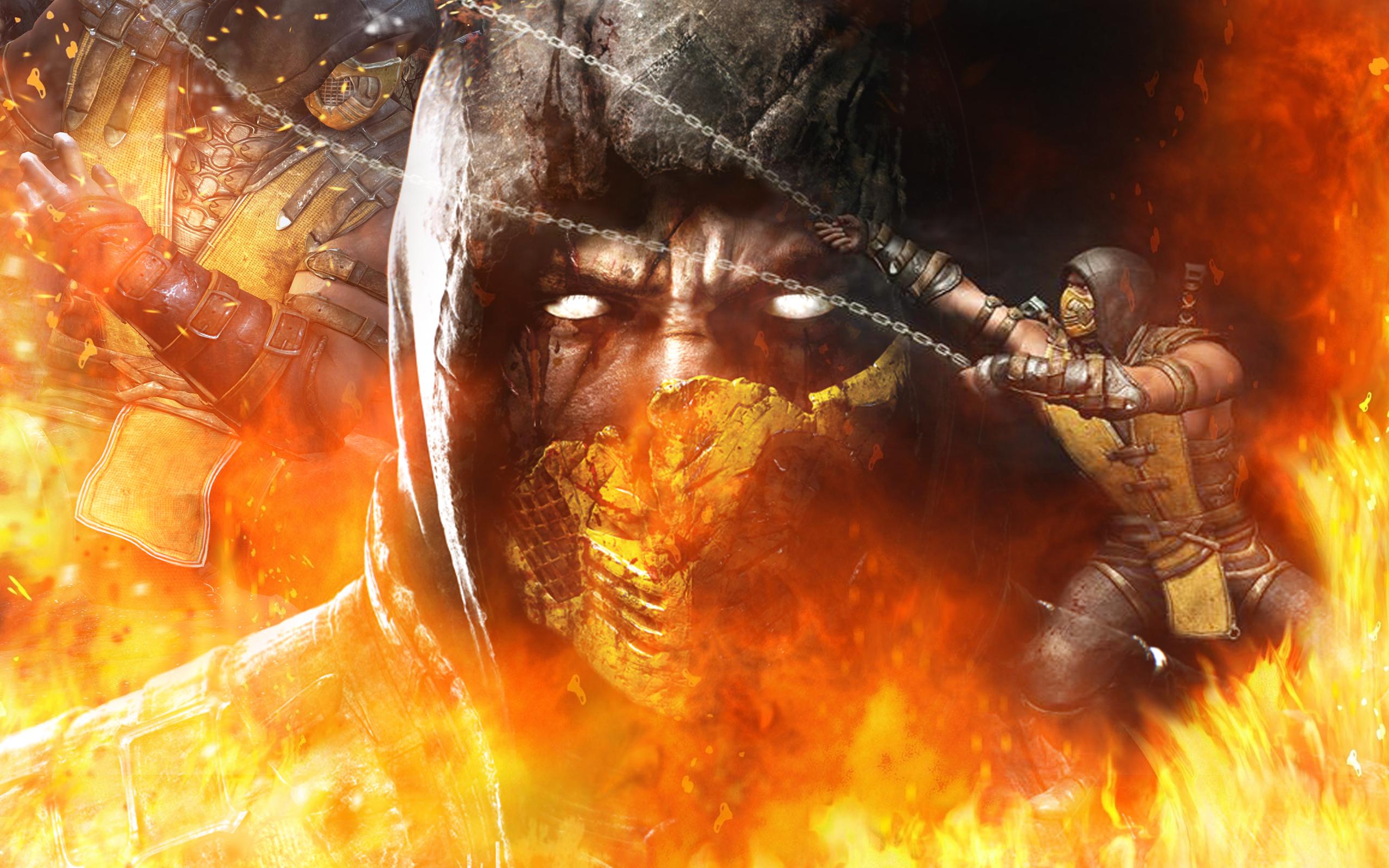 Mortal Kombat X   Scorpion by barrymk100 2560x1600