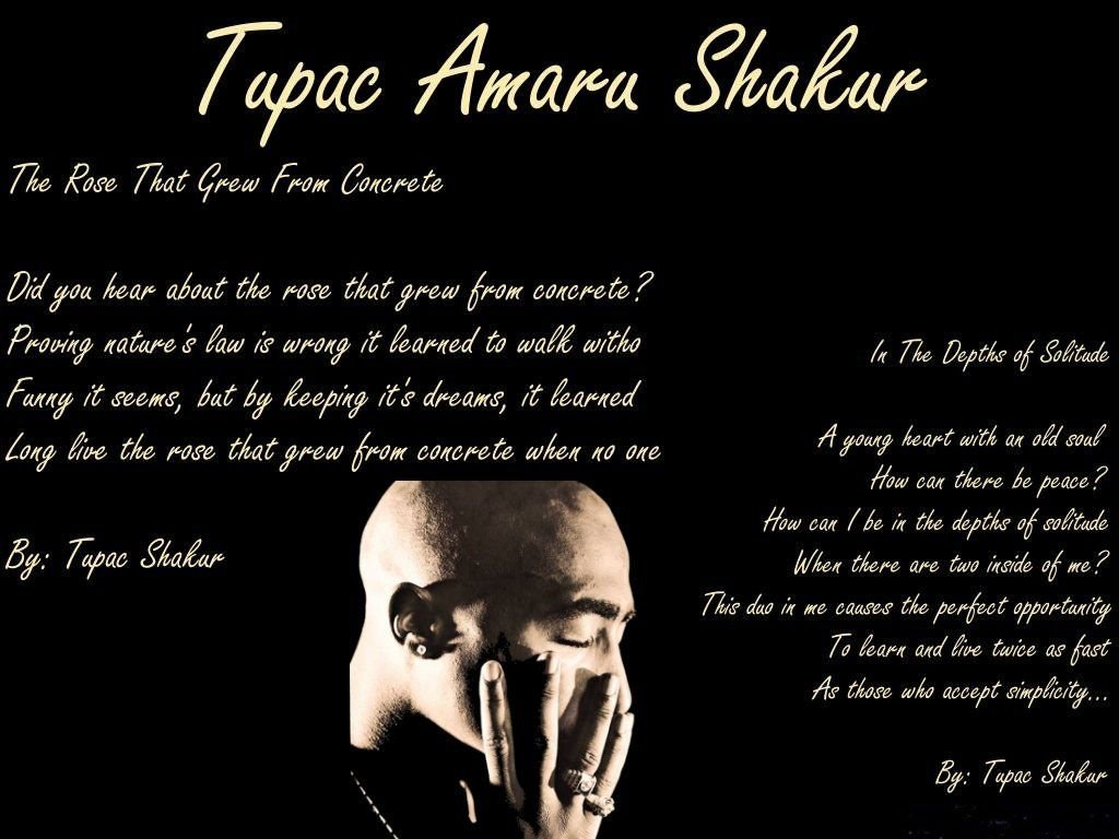 Tupac Shakur Wallpaper Quotes Poems Download 1024x768
