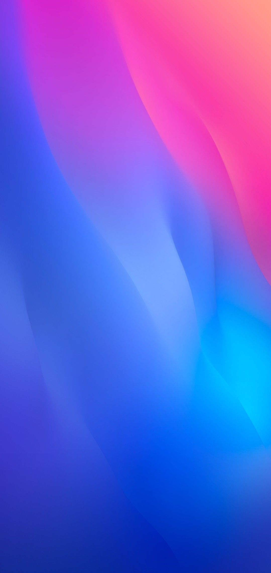 iOS 12 iPhone X blue pink clean simple abstract apple 1080x2280