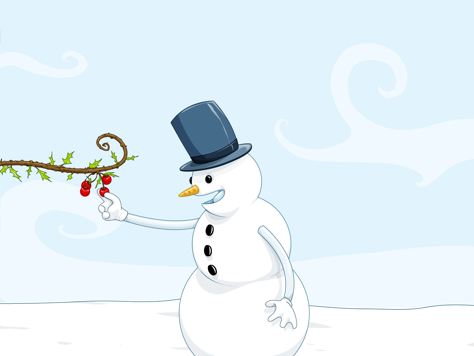 Cute Snowman Winter HD Wallpapers Download Wallpapers in HD for 1600x1200