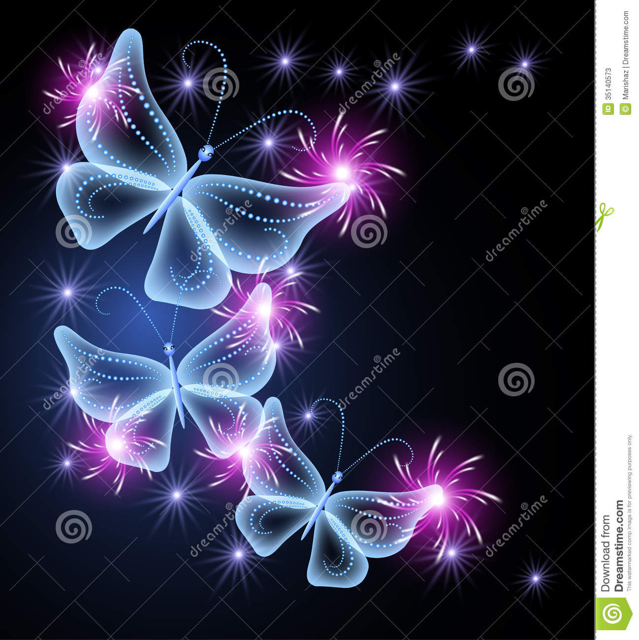 Neon Butterfly Wallpaper Butterflies and stars 1298x1300