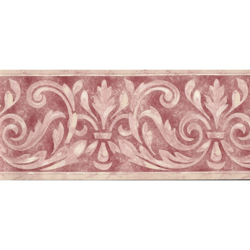 Home Birchwood Traditional Scroll Red Border by Brewster 7963 800x800