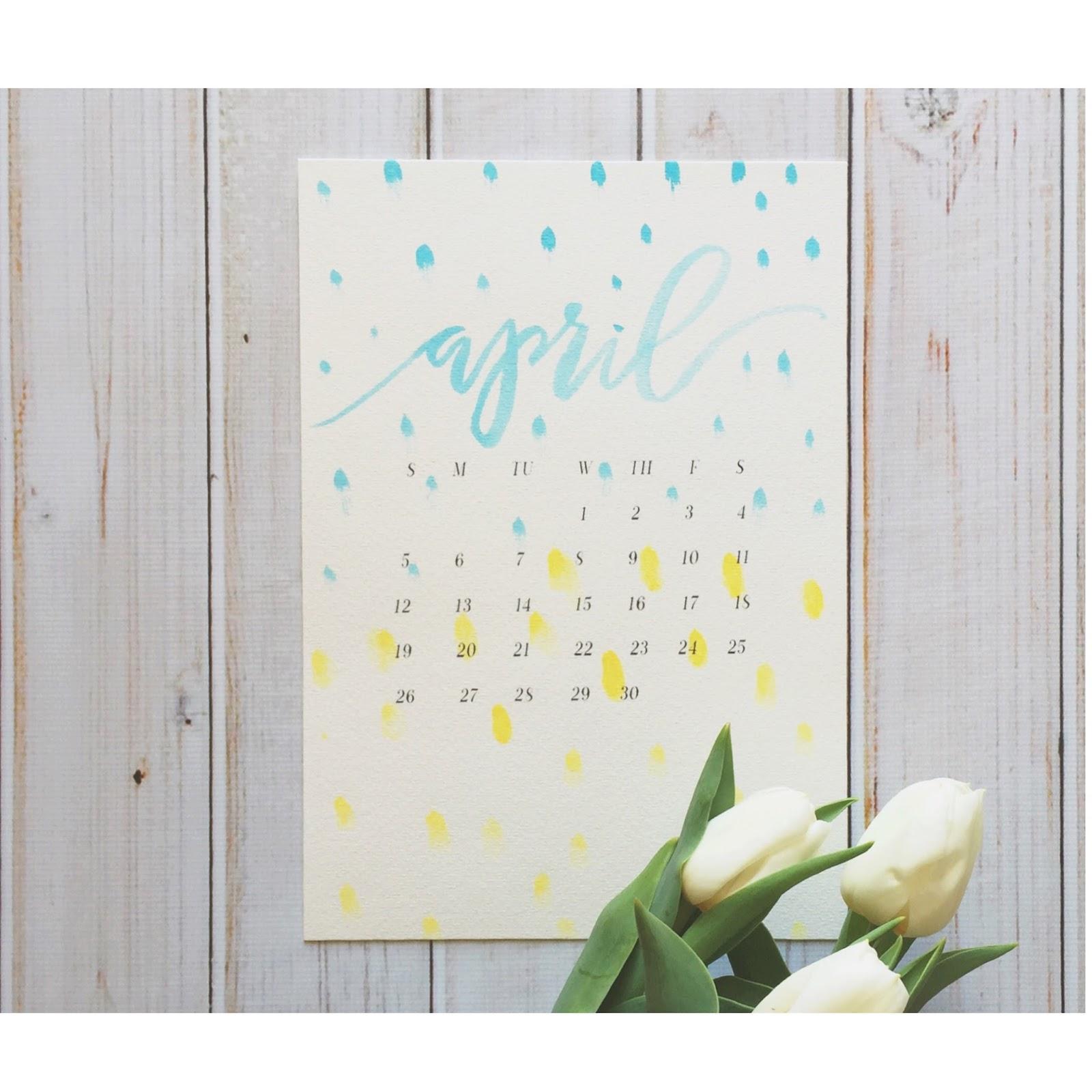 she makes stuff april 2015 desktop calendar wallpaper 1600x1600