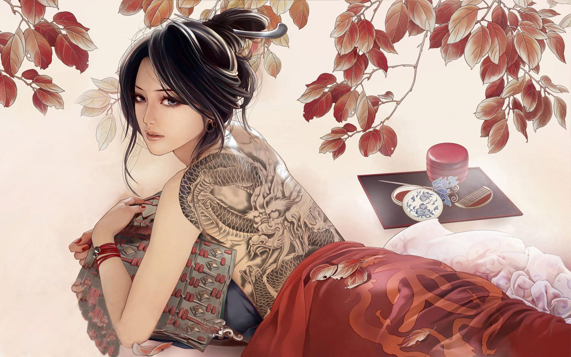 Modern geisha wallpaper 15329 1920x1200