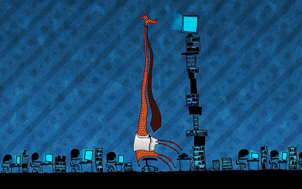 Office giraffe humor tie computers wallpaper   ForWallpapercom 969x606