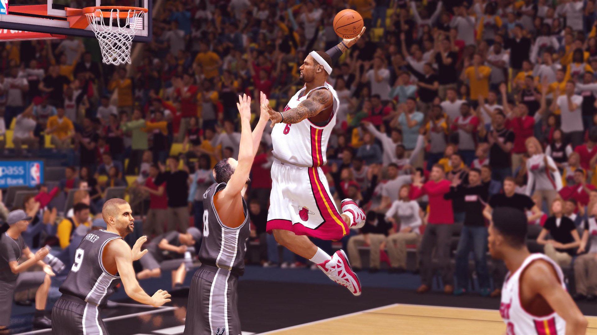 LeBron James dunking Miami Heat NBA 2K14   1920x1080   Full HD 169 1920x1080