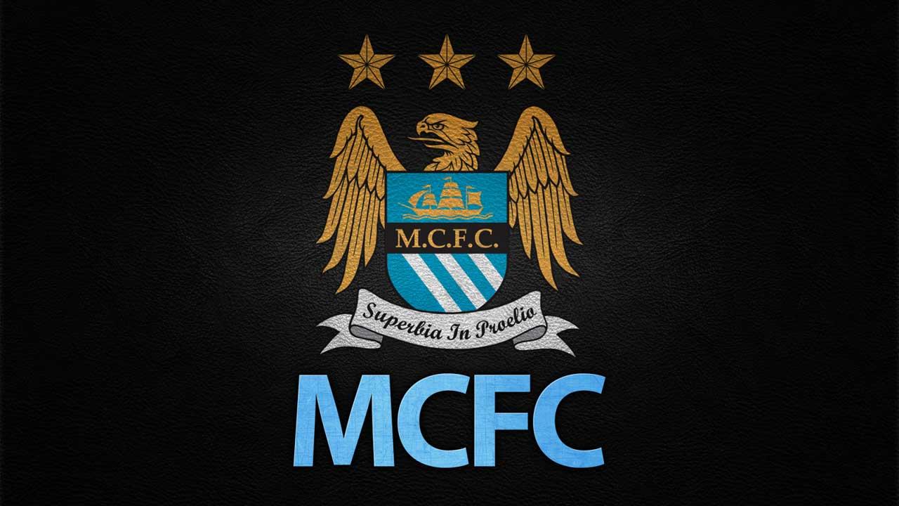 Manchester City logo wallpaper 1280x720