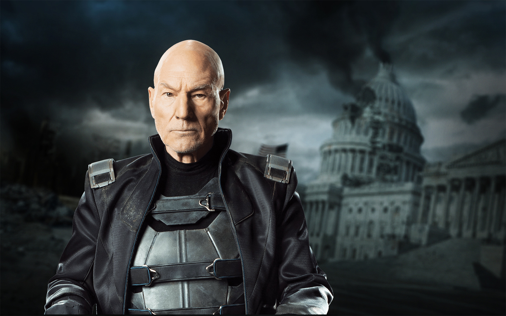 Old Professor Xavier Played By Patrick Stewart Wallpaper and 1680x1050