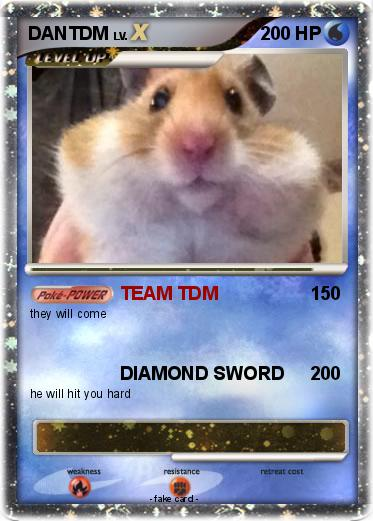 Pokmon DANTDM 12 12   TEAM TDM   My Pokemon Card 373x521