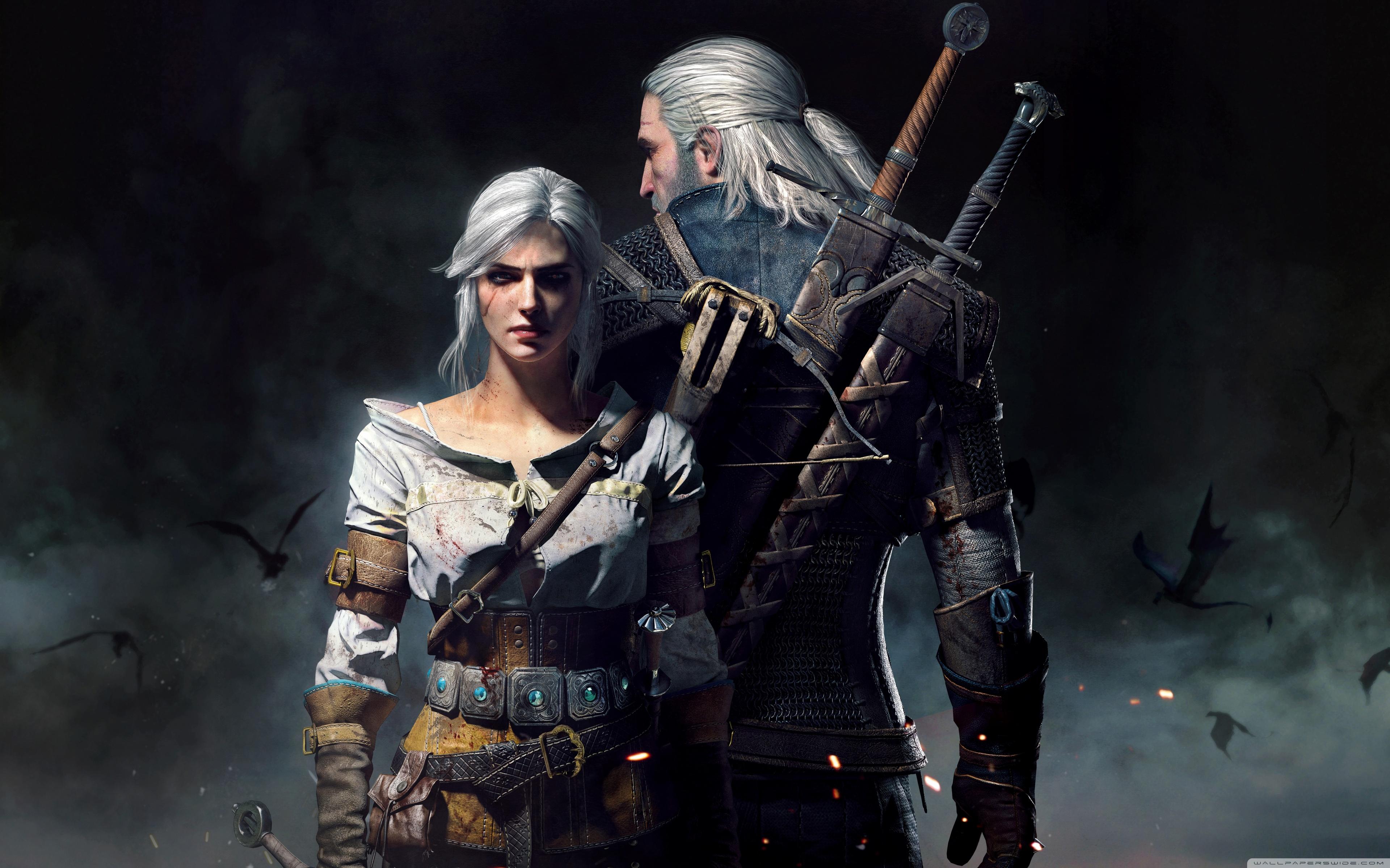 The Witcher 3 Wild Hunt Geralt and Ciri 4K HD Desktop Wallpaper 3840x2400