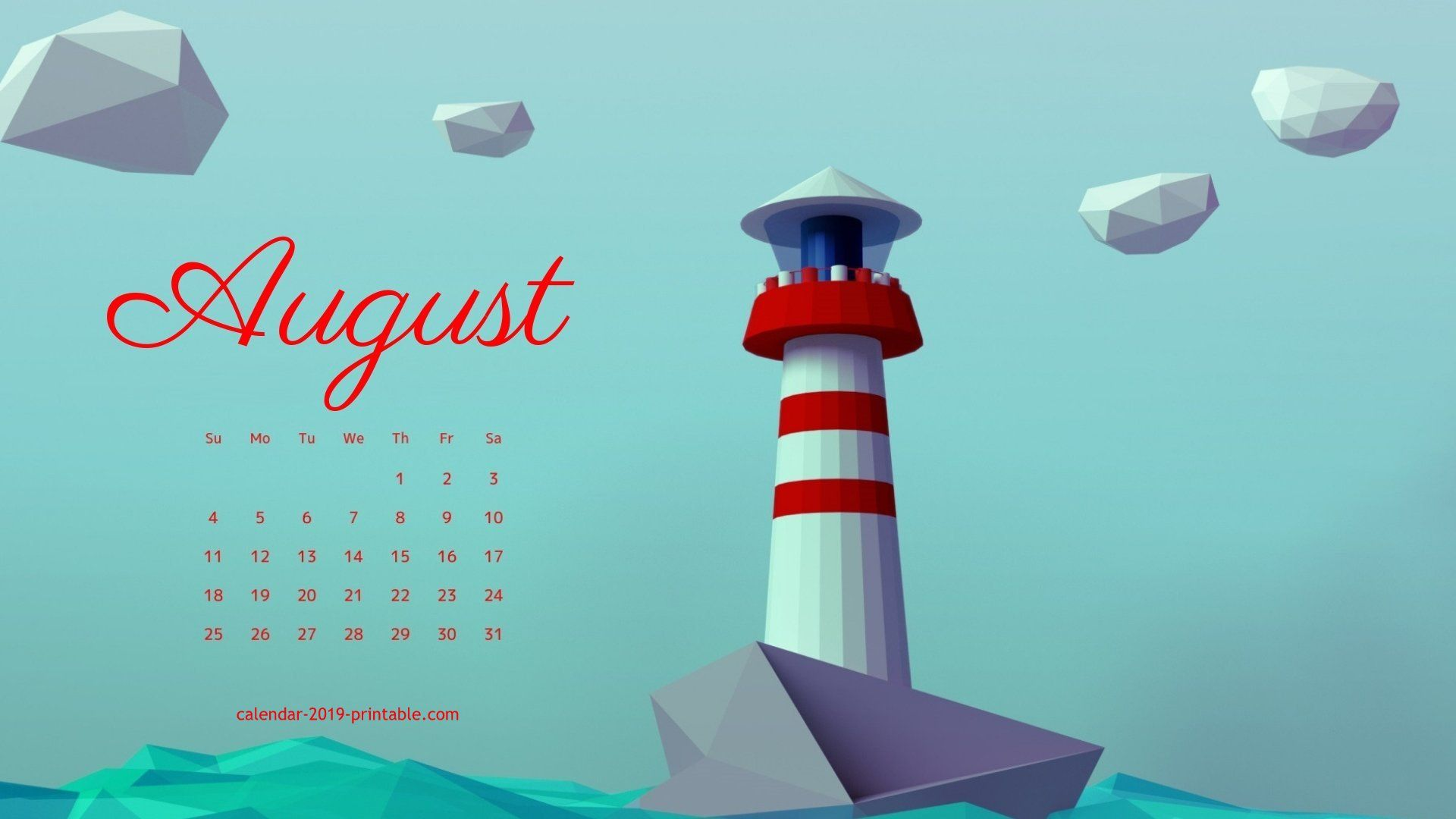 august 2019 calendar hd wallpaper 2019 Calendars in 2019 1920x1080