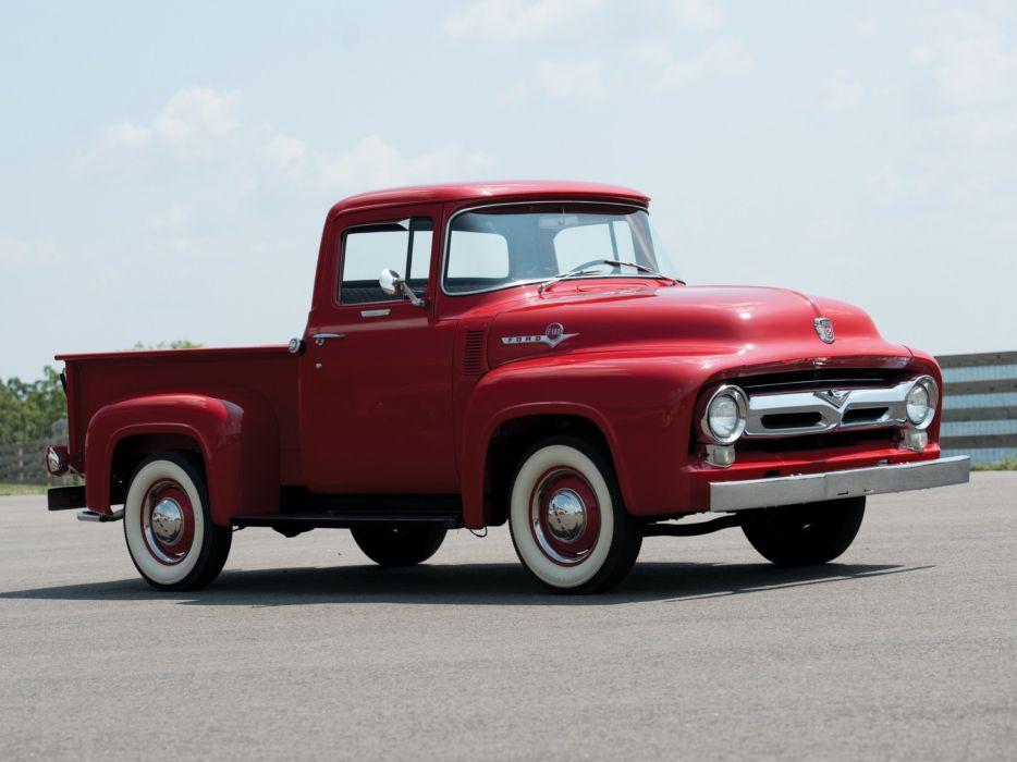 1956 Ford F 100 Custom Cab Pickup f100 retro wallpaper 2048x1536 934x700