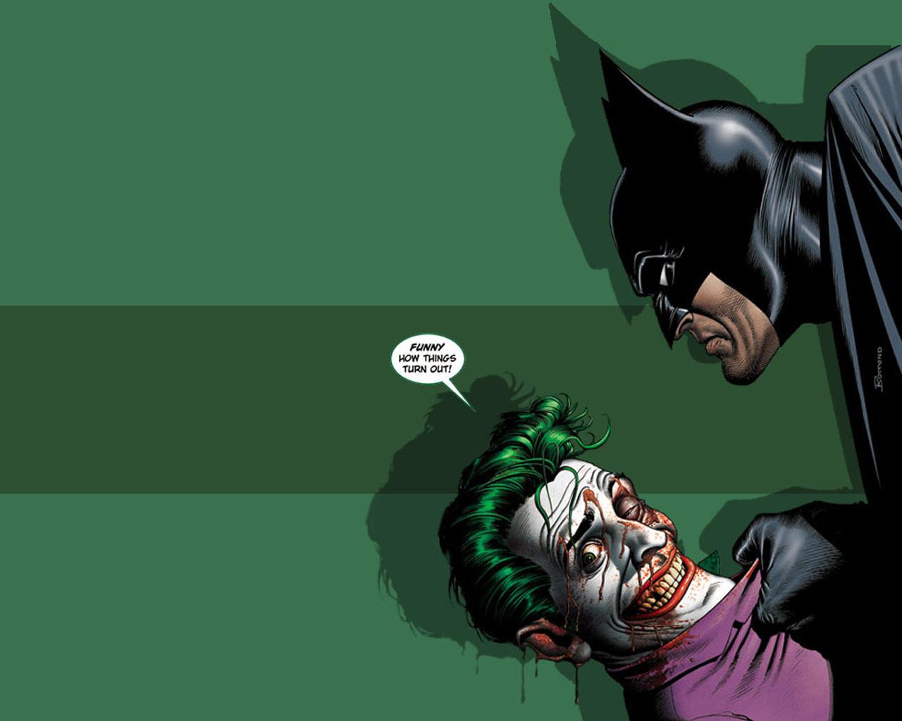 Batman and The Joker   Batman Wallpaper 1420986 1280x1024