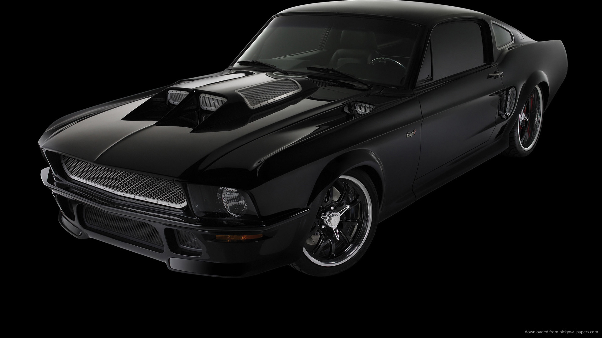 Black Ford Mustang Screensaver For Amazon Kindle 3 1920x1080