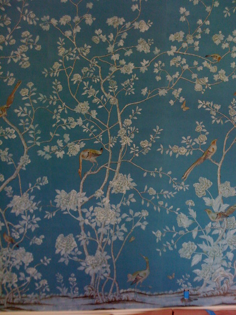 de Gournay custom hand painted wallpaper on silk   Traditional   Home 480x640