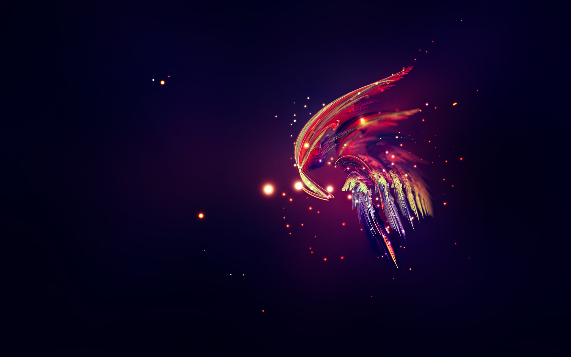 Download the Feather Fluorescence Wallpaper Feather Fluorescence 1920x1200