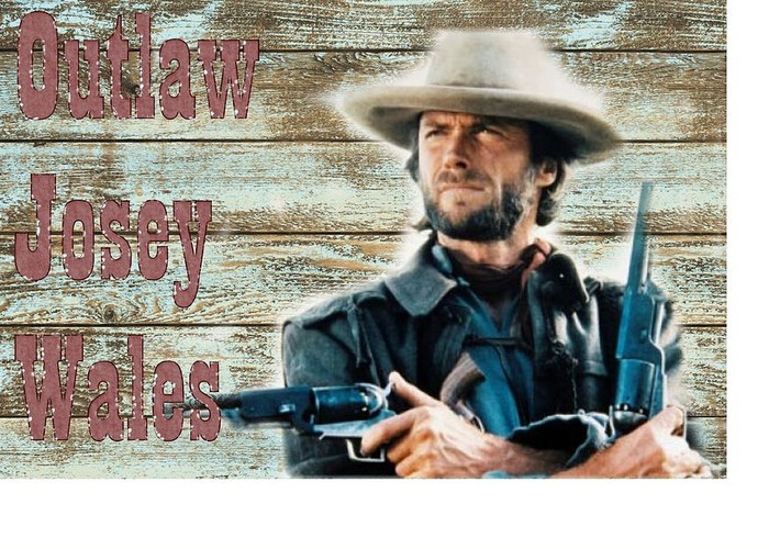 the digital art Clint Eastwood Outlaw Josey Wales by Peter Nowell 700x500