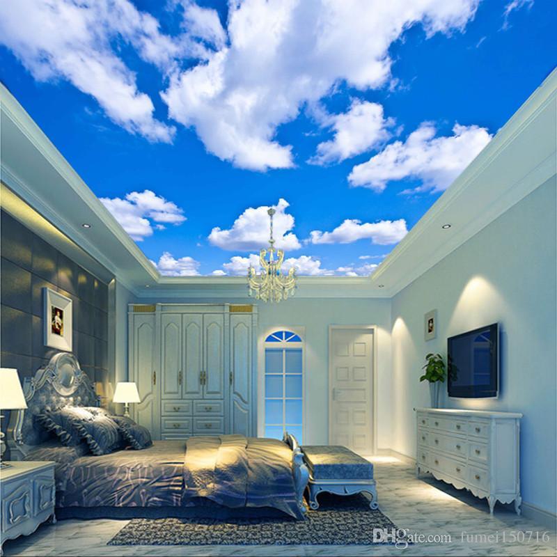 Compre Blue Sky White Cloud Wallpaper Mural Sala De Estar 800x800