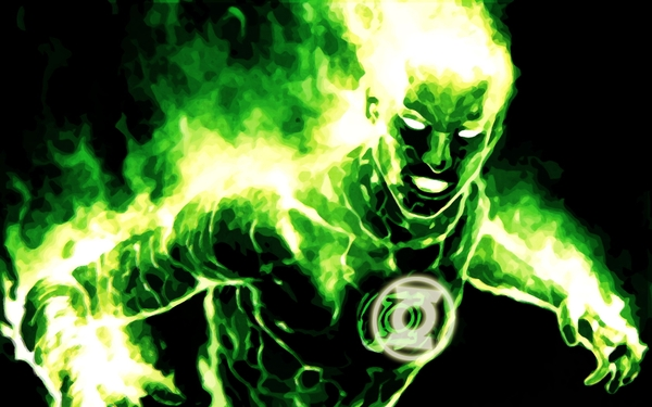 green lantern dc comics human torch Green Wallpapers Desktop 600x375