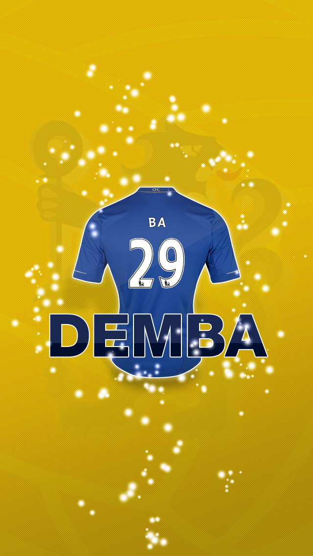 Demba Ba 29 Chelsea iPhone Wallpaper 640x1136