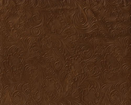 Brown Tooled Faux Leather brown embossed tooled faux leather vinyl 500x400