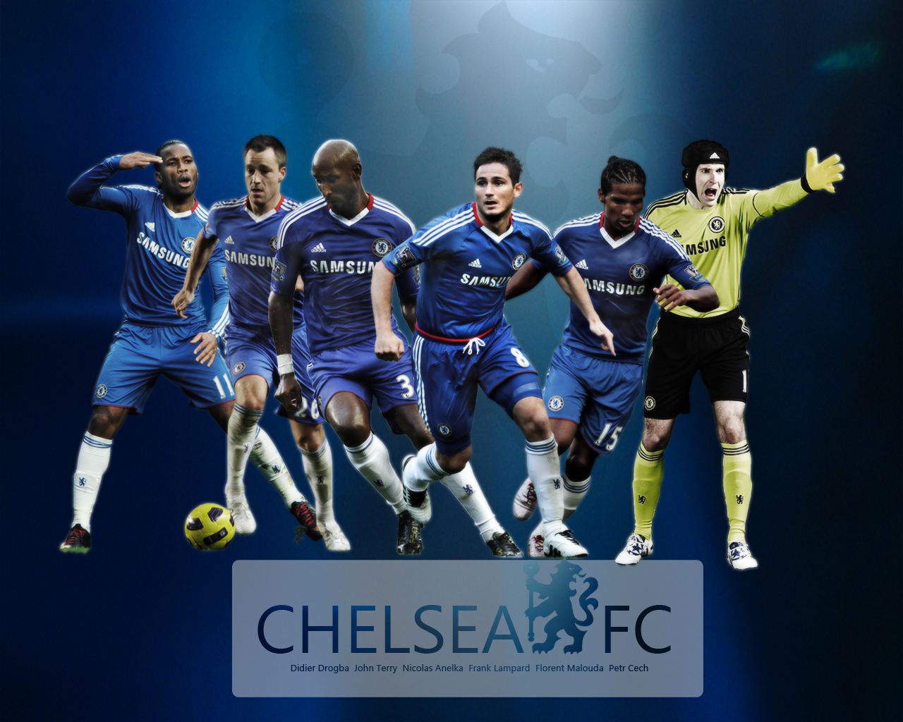 Chelsea FC Team Wallpaper Wallpoh 1280x1024