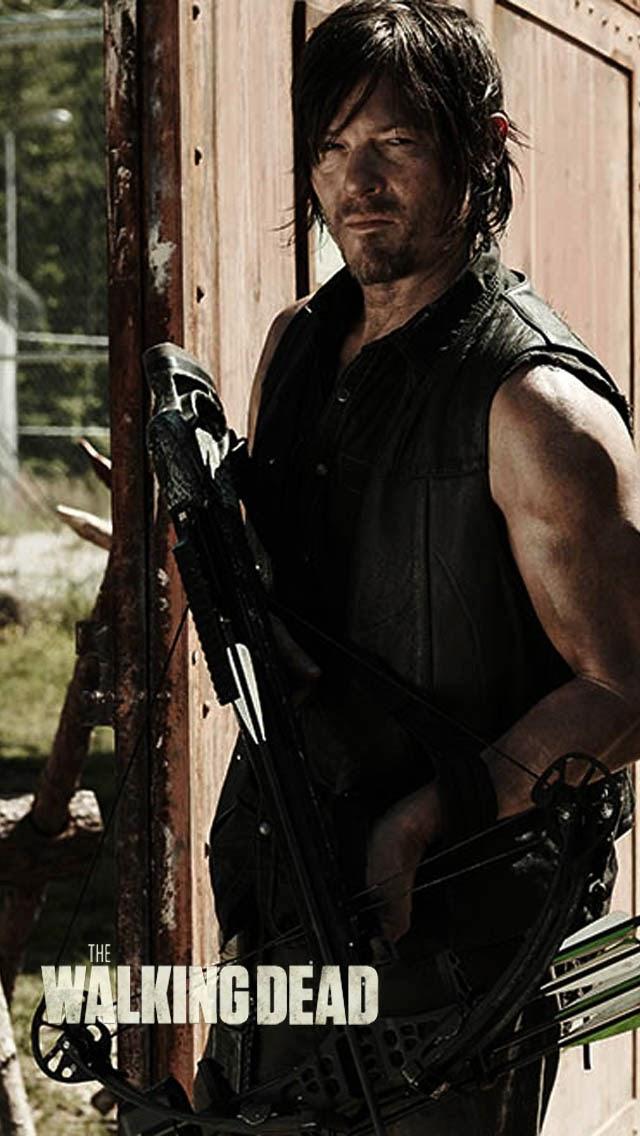 Daryl Walking Dead iPhone Wallpaper TV Shows Pinterest 640x1136