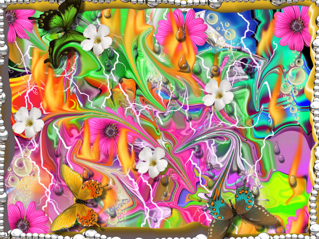 free 3d colorful flowers wallpaper - wallpapersafari