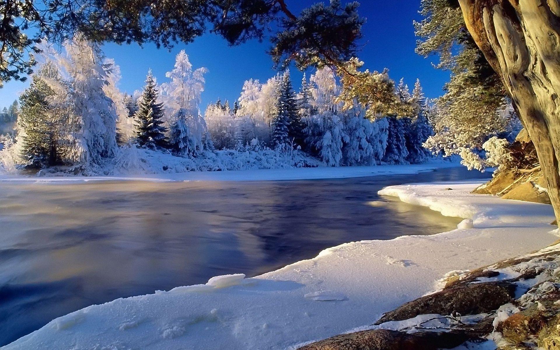 winter landscape desktop backgrounds free hd4wallpaper net